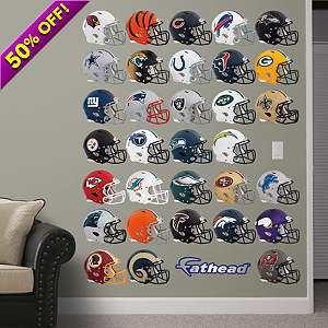 NFL 2013 Helmet Collection Fathead Wall Decal