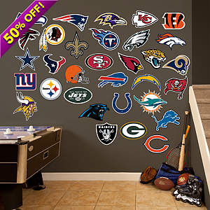 NFL Logo Collection 2013 Fathead Wall Decal