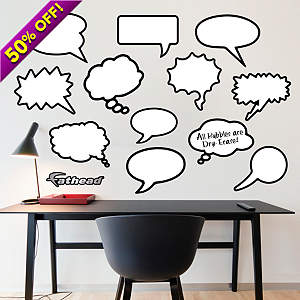 Dry Erase Thought Bubbles Fathead Wall Decal