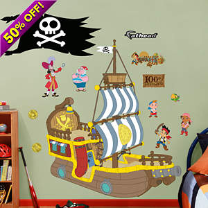 Bucky the Pirate Ship - Jake and the Neverland Pirates Fathead Wall Decal