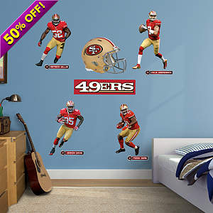 San Francisco 49ers Power Pack Fathead Wall Decal