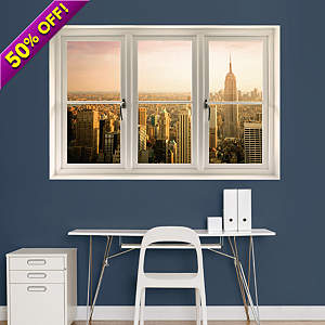 Empire State Building: Instant Window Fathead Wall Decal