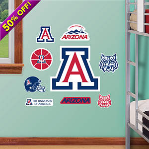 Arizona Wildcats - Team Logo Assortment Fathead Wall Decal