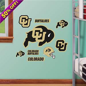 Colorado Buffaloes - Team Logo Assortment Fathead Wall Decal