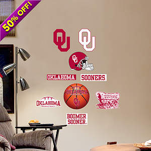 Oklahoma Sooners Logo Assortment Fathead Wall Decal