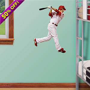 Chase Utley Swing - Fathead Jr. Fathead Wall Decal