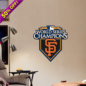 Fathead Jr. - San Francisco Giants 2010 World Series Champions Logo Fathead Wall Decal