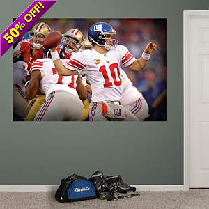 Eli Manning Pocket Presence Mural Fathead Wall Decal