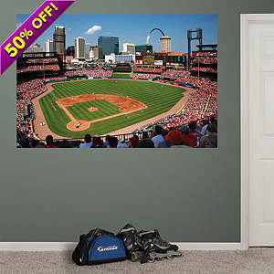 Inside Busch Stadium Mural Fathead Wall Decal