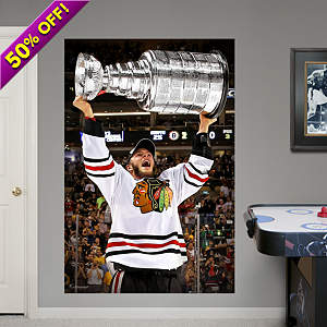 Jonathan Toews: 2013 Stanley Cup Hoist Mural Fathead Wall Decal
