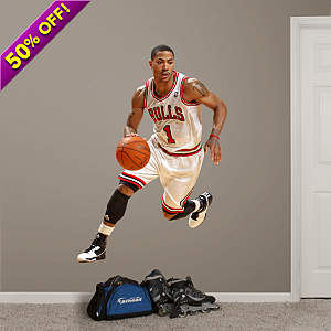 Life-Size wall decal of Derrick Rose