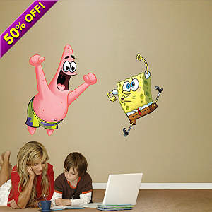 SpongeBob and Patrick Fathead Wall Decal
