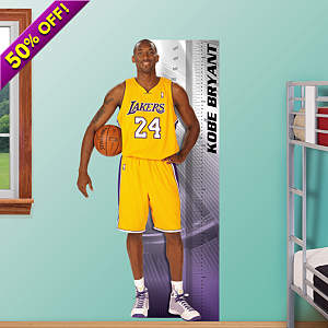 Kobe Bryant Growth Chart Fathead Wall Decal