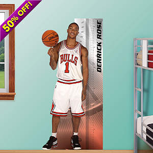 Derrick Rose Growth Chart Fathead Wall Decal