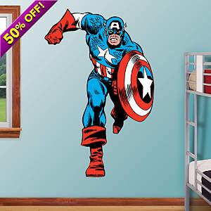 Captain America Fathead Wall Decal