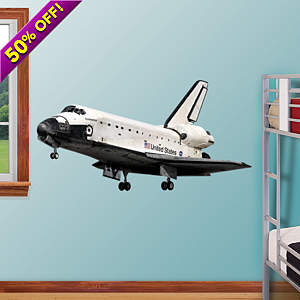 Space Shuttle Endeavor Fathead Wall Decal