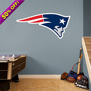 New England Patriots Logo Fathead Wall Decal