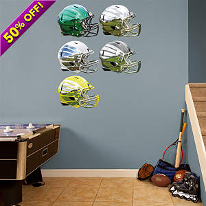 Oregon Ducks Helmet Collection Fathead Wall Decal