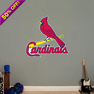 St. Louis Cardinals Logo Fathead Wall Decal
