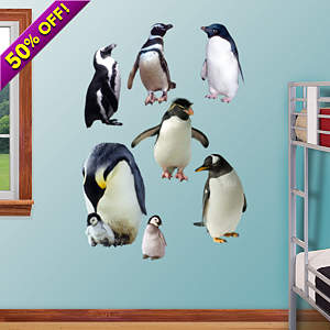 Penguins Fathead Wall Decal