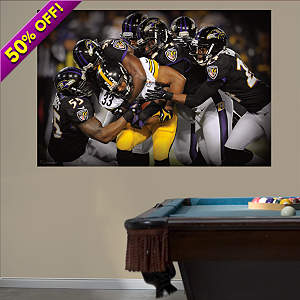 Baltimore Ravens Defense Swarm Mural Fathead Wall Decal