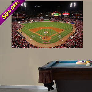 St. Louis Cardinals - 2011 World Series Busch Stadium Mural Fathead Wall Decal