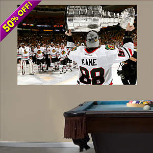 Patrick Kane: 2013 Stanley Cup Hoist Mural Fathead Wall Decal