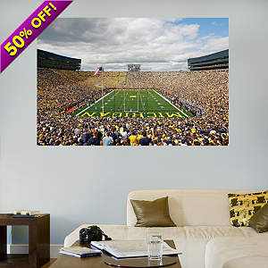 giant U of M Big House Fathead mural