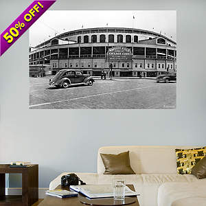 Wrigley Field Historic Mural Fathead Wall Decal
