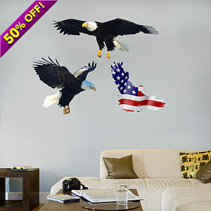 Bald Eagle Fathead Wall Decal