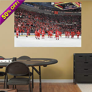 Detroit Red Wings Home Win Streak Mural Fathead Wall Decal