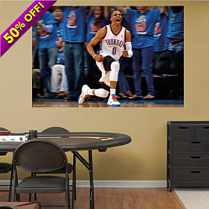 Russell Westbrook Celebration Mural Fathead Wall Decal