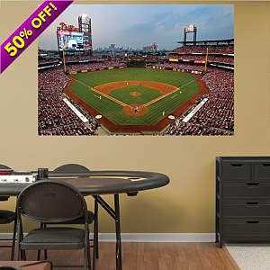 Behind Home Plate at Citizens Bank Park Mural Fathead Wall Decal