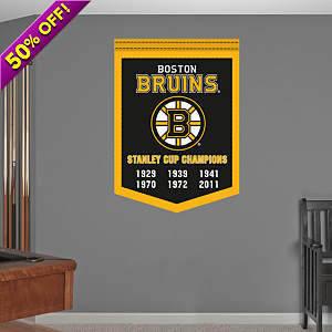 Boston Bruins Stanley Cup Champions Banner Fathead Wall Decal