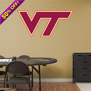 Virginia Tech Hokies Logo Fathead Wall Decal