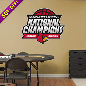 Louisville Cardinals 2013 NCAA Men's Basketball National Champions Logo Fathead Wall Decal