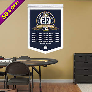 New York Yankees World Series Champions Banner Fathead Wall Decal