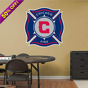 Chicago Fire Logo Fathead Wall Decal