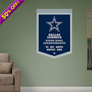 Dallas Cowboys Super Bowl Champions Banner Fathead Wall Decal
