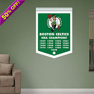 Boston Celtics NBA Champions Banner Fathead Wall Decal