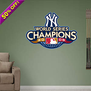 New York Yankees 2009 World Series Champions Logo Fathead Wall Decal