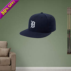 Detroit Tigers Cap Fathead Wall Decal