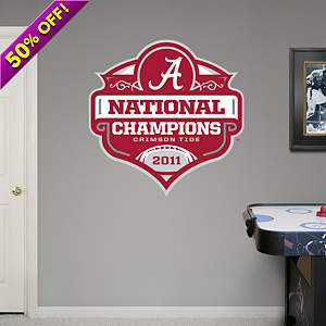 Alabama Crimson Tide BCS Championship Logo Fathead Wall Decal