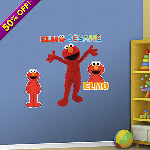 Large Elmo Fathead Wall Decal
