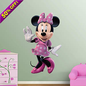 Minnie Mouse Fathead Wall Decal
