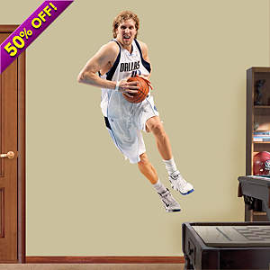 Dirk Nowitzki Fathead Wall Decal