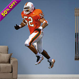 Ray Lewis Miami Fathead Wall Decal