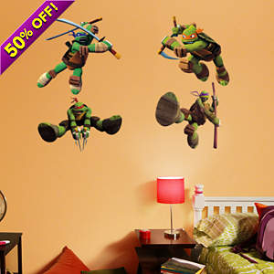 Fathead vinyl wall decals of the TMNT