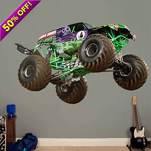 Vinyl wall decal of Grave Digger