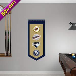 San Diego Padres Logo Evolution Banner  Fathead Wall Decal